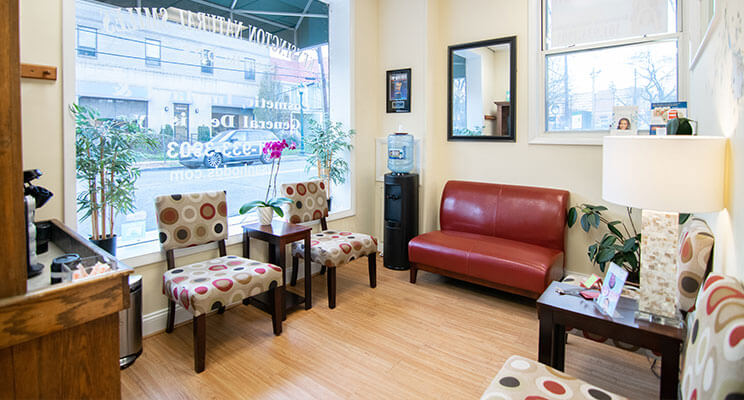 Kensington Natural Smiles Dental Waiting Room